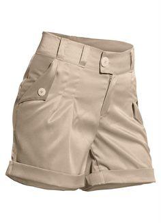 Shorts Diy, Khaki Shorts, Casual Shorts, Short Outfits, Summer Outfits, Casual Outfits, Como Fazer Short, Short Kaki, Short Court