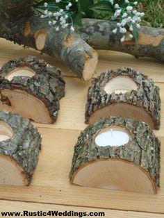 Rustic 4 Weddings: Rustic Wedding Tree Branch Candle Holders