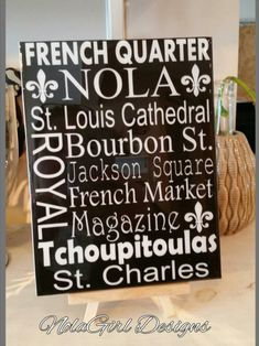 New Orleans Streets, Places, Decorative Tile, Nola landmarks,  Famous Streets, Home Decor, NOLA Style, French Market, bourbon Street, CBD