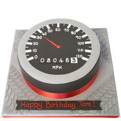 The Cake Store - Speedometer Cake, £89.00 (http://www.thecakestore.co.uk/speedometer-cake/)