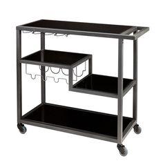 Zephs Gray And Black Bar Cart Holly & Martin Bar Carts Bars & Bar Sets Game Room & Bar Fur