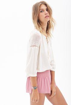 Smocked Chiffon Shorts #SummerForever