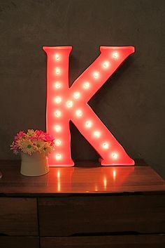 DIY Marquee Letter