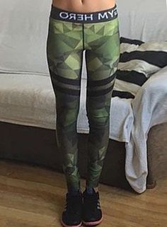 Women's Camouflage Printed Skinny Sports Ankle Leggings