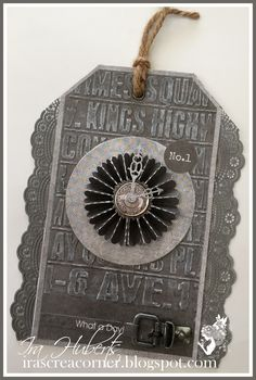 Embossed background, highlighted with chalk - rosette clock