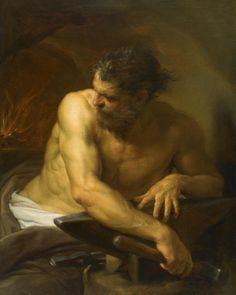 Pompeo Batoni - Vulcan in his Forge (1750)