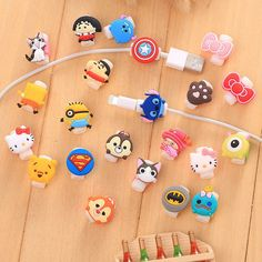 10Pcs Cartoon Usb Charger Cable Saver Protector For Iphone 8 X 5 5S 6+ 6S 6S+ 7+