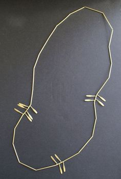 OTTO long gold brass tree leaves eco by mariasolorzano on Etsy
