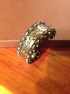 Sterling Silver Engraved Cuff Bracelet Western Style Stunning!