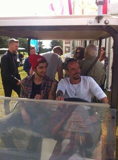 Zayn with Perrie's dad