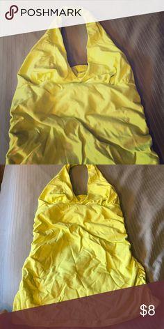Yellow built in bra Victoria secret halter tank Good condition Victoria's Secret Tops Tank Tops
