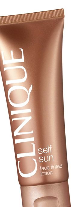 Get a faux glow with #Clinique Self Sun Face Tinted Lotion. You'll be glowing on your #wedding day.