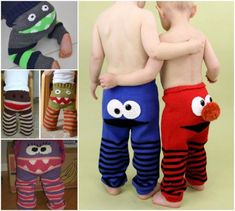 Elmo and Monster Pants FREE Pattern