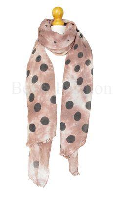 Pink tie dye polka dot oversized scarf. Belles Fashion UK
