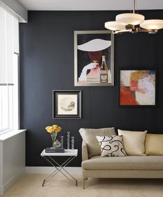 Black is the go-to neutral of the fashion world, but it can also work wonders in a design setting. A painted black wall looks spectacular in the right room, and even smaller hits of the hue - a table lamp, for example, or window trim - deliver big impact. As a general rule, black décor looks best in spaces with plenty of light, white and reflective surfaces. Here are some ideas for dark side experimentation: