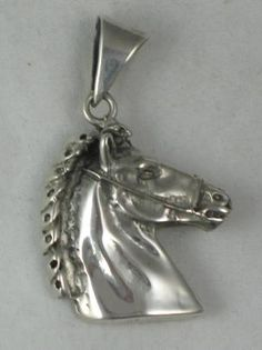 Mexico Sterling Silver Horse Head Pendant