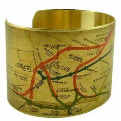 Items similar to London Underground Map - London Subway Map - Map Jewellery - Cuff Bracelet - British Gift - Travel Gift - Travel Jewelry on Etsy British Gifts, Subway Map, London Map, Brass Cuff, London Underground, Vintage London, Made In Uk, Travel Jewelry, Travel Gifts