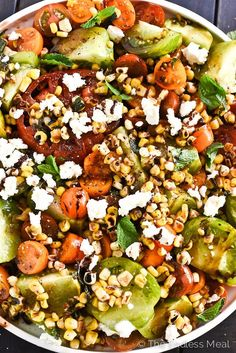 Summer Tomato and Grilled Corn Salad | theendlessmeal.com #totalbodytransformation