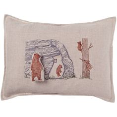 coral and tusk pillow