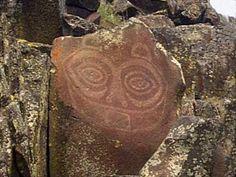 """Northwest coast petroglyph """"She who watches"""""""