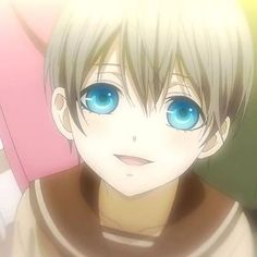 Young Ciel Phamtomhive smiling<< EHMAHGAWD HES HAPPY THATS SO CUTE