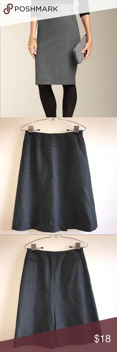 Talbots Gray pencil skirt Great used condition. Size six. Slip lined Talbots Skirts