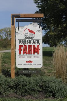 fresh air farm - detailed entry sign by Whiskey Design and Studio Build