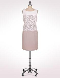 Plus Size   Dresses   Plus Size Lace Colorblock Dress   dressbarn