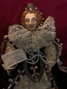 Vintage Queen Elizabeth I Devereux Models English Portrait W/ Tag : Oldeclectics | Ruby Lane