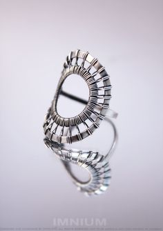 O ring II - modern, geometric, abstract wire wrapped ring - sterling silver, US size 6  $59
