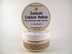 Lemon Cuticle Butter by HaloSoap on Etsy, $6.00  Sounds like a lush lemony flutter dupe to me! Half price, no parabens, sign me up!
