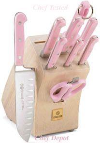 ♥ this pink kitchen knife set......matches my guns!!!!!!! I love it! !!!