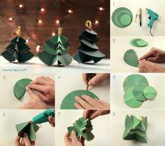 DIY ideas and tutorials - herringbone - Christmas tree made from paper