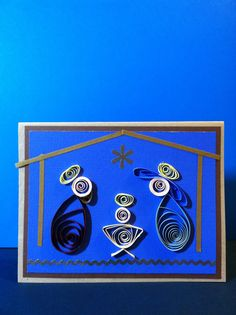 I paper quilled Christmas cards for my sister, Nancy. she was delighted to have these to mail to friends.