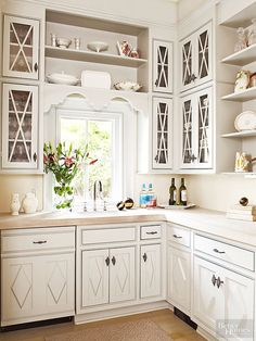 """Basket Weave pulls as seen in """"Cabinet Hardware for Every Kitchen Style"""" on bhg.com #amerock"""