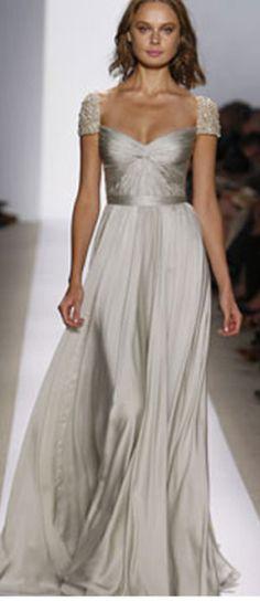 amazing grey wedding gown