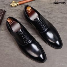 b224354e2a533 Phenkang mens formal shoes genuine leather oxford shoes for men black 2019  dress shoes wedding shoes laces leather brogues