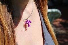 3D-Printed Oakland Oak Tree Necklace by hrvst3D on Etsy #3D #printed #jewelry