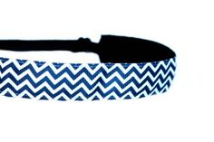 Mavi Bandz Adjustable NonSlip Fitness Headband Chevron  Navy ** Continue to the product at the image link.(This is an Amazon affiliate link)