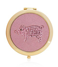 <p>The Henrietta Crystal Compact Mirror is a must-have handbag accessory for the fun and feisty Bendel Girl. The decadent design of this nostalgic piece features crystal detailing, a secure closure, and standard and magnifying interior mirrors.</p>