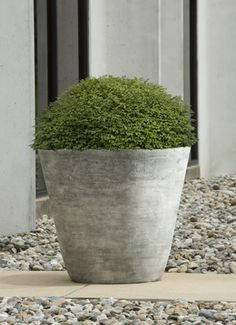 concrete + fibreglass planter | campania international