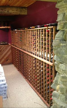 There's many benefits to WineRacks.com's products being #MadeInAmerica but one big one is that we can custom build to fit most applications. When a customer needed a wine rack that was 17 columns wide, we were able to build just the rack for his space. Don't hesitate to contact us for a free custom design: https://www.wineracks.com/custom-wine-cellars/request-design.htm?utm_source=Pinterest&utm_medium=Post&utm_campaign=Custom