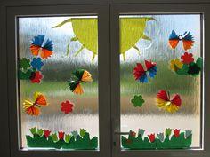 Window Decorating, Decor Ideas, Windows, Spring, Frame, Home Decor, Manualidades, Window Design, Easter Activities