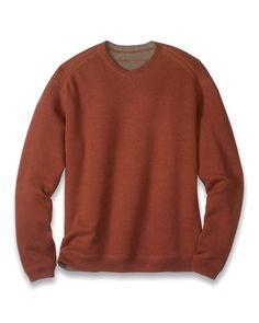 Big & Tall Flip Side Pro Reversible V-Neck Sweatshirt
