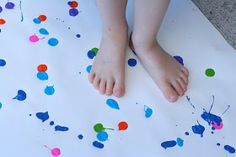 Big Art: Painting with your Feet!