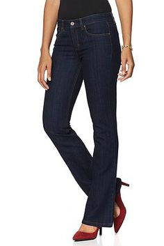 Innovative denim from Jones New York that sculpts and shapes for a flawless fit! Would you pair this with flats, heels or boots?