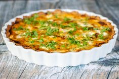 Feta, Greek Recipes, Lchf, Quiche, Tapas, Brunch, Bacon, Recipies, Good Food