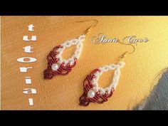 How to macrame: The Lili earrings - Easy and simple macrame tutorial Macrame Earrings Tutorial, Earring Tutorial, Bracelet Tutorial, Diy Earrings, Crochet Earrings, Diy Tutorial, Paper Quilling Jewelry, Tatting Jewelry, Macrame Jewelry