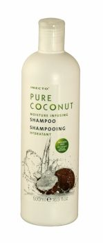 INECTO PURE COCONUT SHAMPOO 500ML  Inecto Pure Coconut Moisture Infusing Shampoo softens and revitalizes the hair. Contains 100% Pure Coconu...