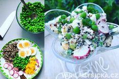 Quinoa je výživná bezlepková pseudoobilovina, která má v kuchyni snadné a široké využití. Můžete ji přidat třeba do zeleninového rizota, vynikající je ale i do studených salátů. Cobb Salad, Quinoa, Acai Bowl, Potato Salad, Salads, Potatoes, Breakfast, Ethnic Recipes, Fit